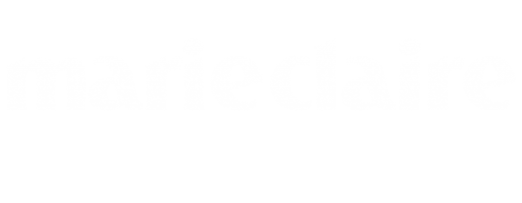 Marie Claire logo white vector